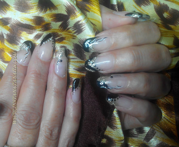 deco ongle or noir