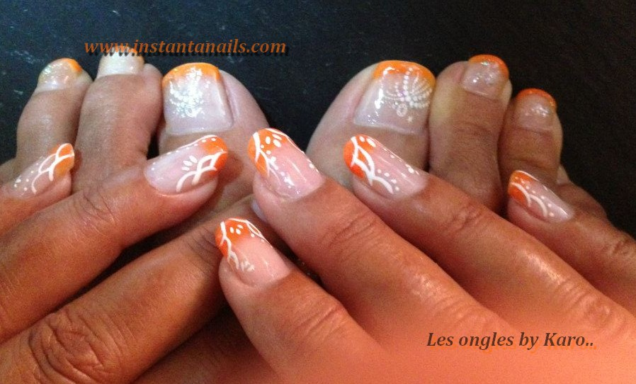 french deco orange blanche