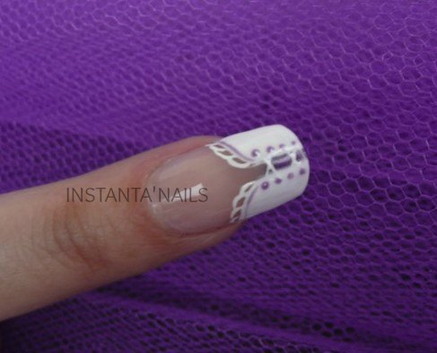 PHOTO POSE ONGLE EN GEL DECO CORSET